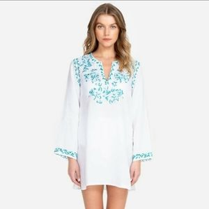 NWT Johnny Was Marie Tunic Cover-Up White Linen M